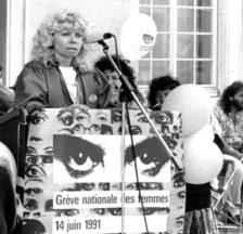 Christiane Brunner hatte an der Organisation des Frauenstreiks wesentlichen Anteil (SozArch F 5032-Fb-0630)