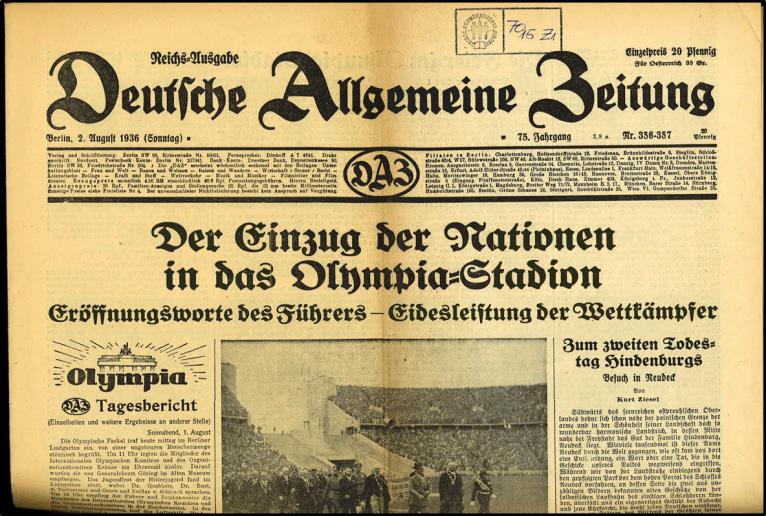 Vor 80 Jahren Proteste Gegen Die Olympischen Spiele In Nazi Deutschland