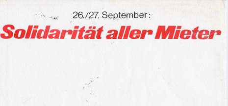 """Eidgenössische Abstimmung über die Initiative """"Recht auf Wohnen"""" vom 27.9.1970"""