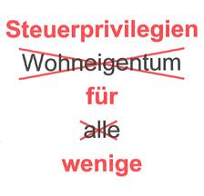 """Titelblatt (Ausschnitt) des Argumentariums des MV zur Volksinitiative """"Wohneigentum für alle"""" des Schweizerischen Hauseigentümerverbandes, Dezember 1998"""