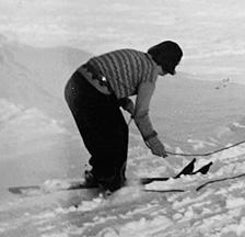 Skifahren in der Sozialistischen Arbeiterjugend, 1930er Jahre (Foto: Robert Risler; F 5024-Fx-002)