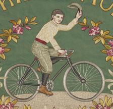 Fahne des Arbeiter-Radfahrer-Bunds Bülach, 1921