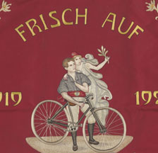 Fahne des Arbeiter-Radfahrer-Bunds Langnau i.E., um 1920