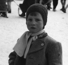 Zwei Kindergärtner mit Schneemann, 1958 (F 5042-Fx-03-025)