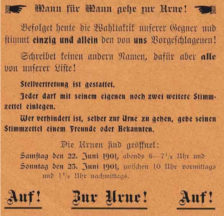 »Auf! Zur Urne!» (1901)