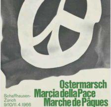 Plakat zum Ostermarsch 1966 Schaffhausen – Zürich (SozArch F Pe-0699)