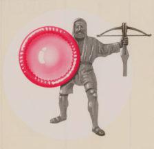 Abziehbild der «Stop Aids»-Kampagne, 1980er Jahre (SozArch F Oc-0001-036)