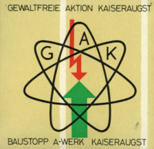 Abziehbild zum Baustopp des A-Werks Kaiseraugst (SozArch F 5053-Ob-217)