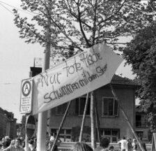 Räumung des AJZ, 4.9.1980 (Foto: Michel Fries, SozArch F 5111-040-024)