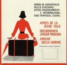 Werbetafel der «Freundinnen junger Mädchen», um 1950 (SozArch F 5134-Od-003)