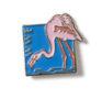 Pin mit Flamingo, um 1990