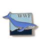 Pin mit Blauwal, um 1990
