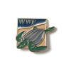 Pin mit Meeresschildkröte, um 1990