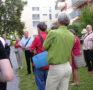 Begehung zweier Wohnüberbauungen mit Ludi Fuchs