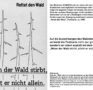 Postkarte zum Thema Waldsterben, 1980er Jahre