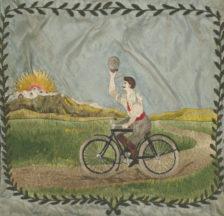 Fahne des Arbeiter-Radfahrer-Bunds Basel, 1923