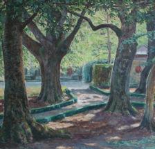 Bäume des Südens, Gemälde von Ernst Nobs