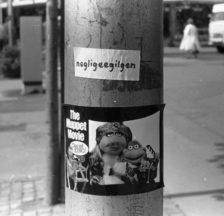 Palindrom gegen den damaligen Zürcher Erziehungsdirektor Alfred Gilgen, einen der Erzfeinde der Jugendbewegung. Michel Fries hat Dutzende dieser kreativen Wortspiele und Sprayereien fotografiert.