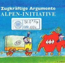 Argumentarium für die Alpeninitiative «zum Schutze des Alpengebietes vor dem Transitverkehr» (Signatur: QS 98.0 *Alp)
