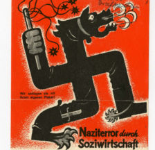 Kampf mit harten Bandagen: Flugblatt der FDP aus dem Stadtratswahlkampf in Zürich 1933.