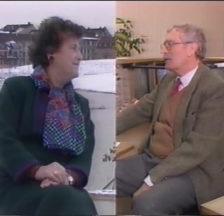 Split Screen mit Emilie Lieberherr und Jürg Kaufmann (Still aus dem Wahlkampfvideo von 1986)