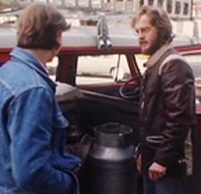 Der Biomilchmann in Zürich unterwegs, DRS Aktuell, 1981. Foto: SF