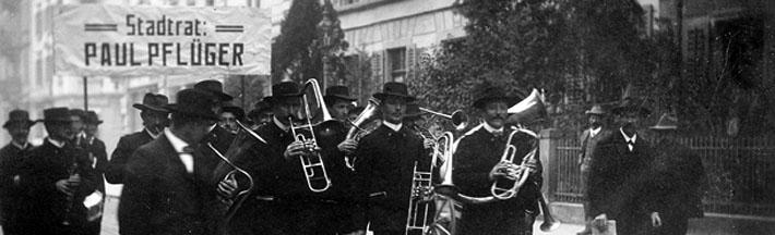 Wahlumzug für Paul Pflüger, 1910