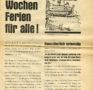 """""""Drei Wochen Ferien für alle!"""" (Flugblatt, 1961)"""
