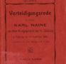 1903 wegen Militärverweigerung verurteilt