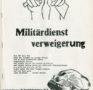 Appell zur Militärdienstverweigerung (um 1970)